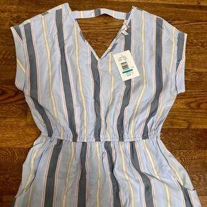 Striped summer beach sundress pockets Belk